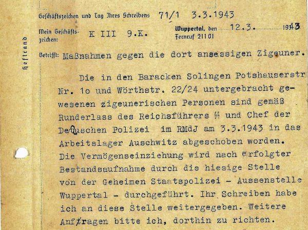 #closedbutopen Verfolgung der Sinti und Jenischen