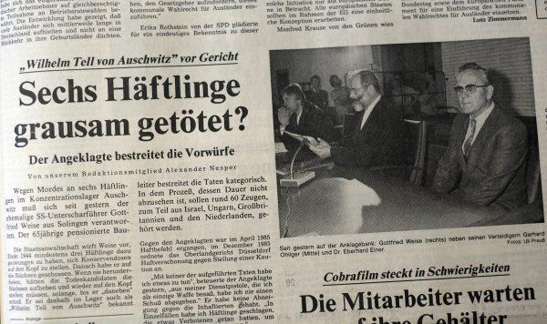 """Vortrag """"Der ,Wilhelm Tell' von Auschwitz"""""""