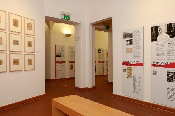 Ausstellungsraum zu Ernst Walsken