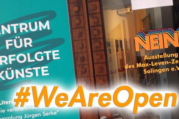 #weareopen – Die Ausstellung ist geöffnet!